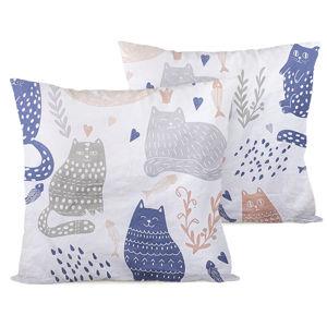 4Home Nordic Cats párnahuzat, 2 db 40 x 40 cm, 40 x 40 cm