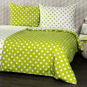 4Home Zöld pöttyös pamut ágynemű, 160 x 200 cm, 70 x 80 cm, 160 x 200 cm, 70 x 80 cm