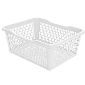 Aldo műanyag kosár, 41,9 x 32 x 16,8 cm, fehér