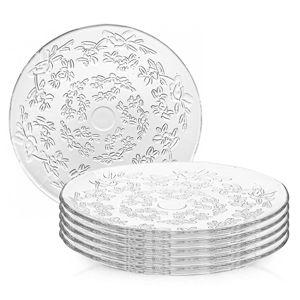 Altom Flora üveg sekélytányér készlet, 24,5 cm, 6 db-os