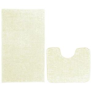 AmeliaHome Bati fürdőszobai kilépő szett, fehér, 2 db, 50 x 80 cm, 40 x 50 cm