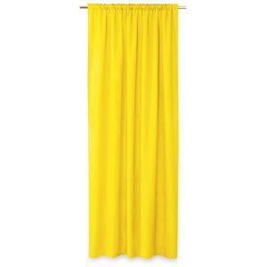 AmeliaHome Oxford Pleat függöny, sárga, 140 x 250 cm
