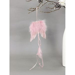 Angyalszárny tollból, 12 x 35 cm, rózsaszín