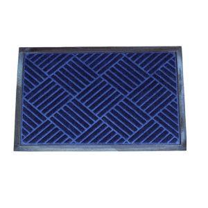 Checker gumi lábtörlő, kék, 40 x 60 cm