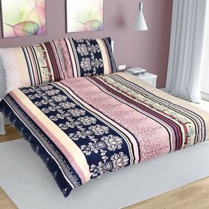Csíkos pamut ágynemű, színes, 200 x 200 cm, 2 db 70 x 90 cm, 200 x 200 cm, 2 ks 70 x 90 cm