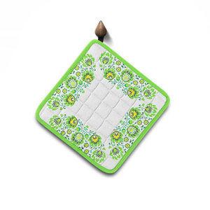 Domarex Folk konyhai edényalátét, zöld, 20 x 20 cm