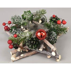 Green pine karácsonyi gyertyatartó, 20 x 8 cm