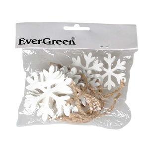 Hópehely fa karácsonyi dísz készlet, felakasztható, 10 db-os