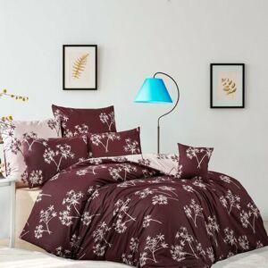 Idill pamut ágynemű, burgundy, 220 x 200 cm, 2 db 70 x 90 cm, 220 x 200 cm, 2 db 70 x 90 cm