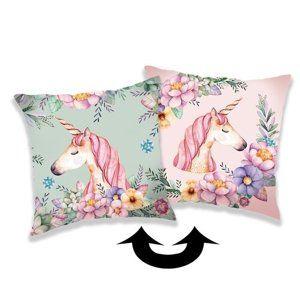 Jerry Fabrics párnahuzat flitterekkel, Unicorn 02, 40 x 40 cm
