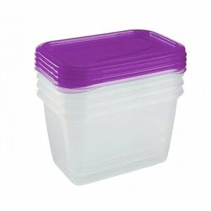 Keeeper műanyagdoboz-készlet, fagyasztóba 4 x 0,75 l Fredo Fresh, lila