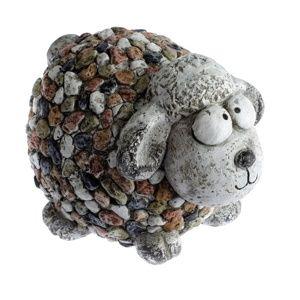 Kerti dekoráció Bárányka kavicsokkal, 27 x 19 x 19 cm