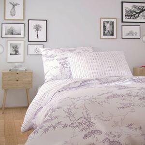 Kvalitex Nordic Disa pamut ágynemű, lila, 140 x 220 cm, 70 x 90 cm, 140 x 220 cm, 70 x 90 cm