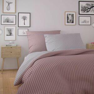 Kvalitex Nordic Kare pamut ágynemű, rózsaszín, 140 x 220 cm, 70 x 90 cm, 140 x 220 cm, 70 x 90 cm