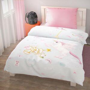 Kvalitex Pegazus pamut ágynemű, 140 x 220 cm, 70 x 90 cm, rózsaszín, 140 x 220 cm, 70 x 90 cm