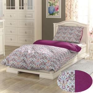 Kvalitex Provence Narista pamut ágynemű purpur, 240 x 200 cm, 2 db 70 x 90 cm, 240 x 200 cm, 2 db 70 x 90 cm
