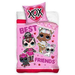 LOL Suprise Best Friends gyermekpamut ágynemű, 140 x 200 cm, 70 x 90 cm