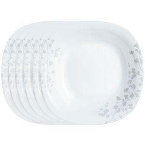 Luminarc Ombrelle sekélytányér készlet, 27 cm 6 db, fehér