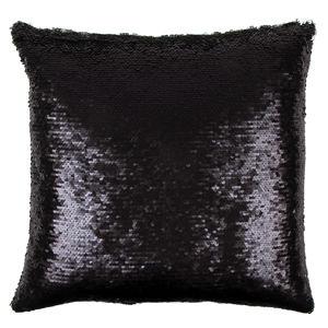 Párnahuzat Magic matt fekete, 40 x 40 cm