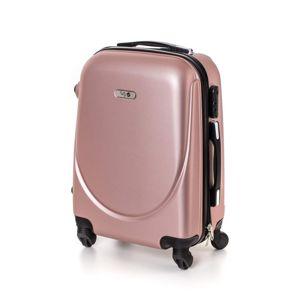Pretty UP kerekes bőrönd ABS16 rózsaszín, 37 x 49 x 23 cm