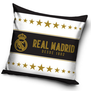 Real Madrid Gold Stars párnahuzat, 45 x 45 cm