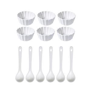 Round porcelántál készlet, 12 darabos