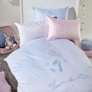 Stella Ateliers gyermek damaszt ágynemű Oskars Abenteuer, bézs, 100 x 135 cm, 40 x 60 cm