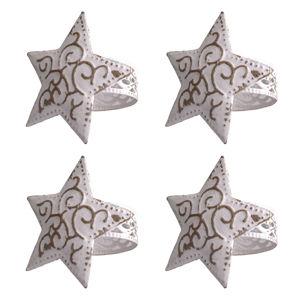 Szalvétatartó szett Csillag, 4 db