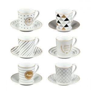 Tescoma myCOFFEE eszpresszós csésze tányérkával Happy, 6 db,