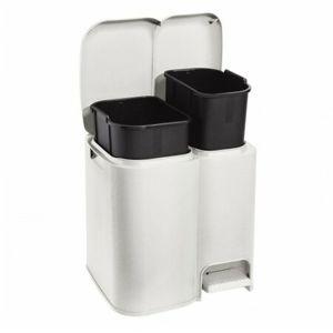 Tontarelli DUO szelektív hulladékgyűjtő 13 + 8 l, krém