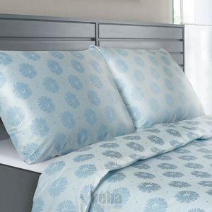 Veba Geon Százszorszép damaszt ágynemű, kék, 140 x 220 cm, 70 x 90 cm, 140 x 220 cm, 70 x 90 cm