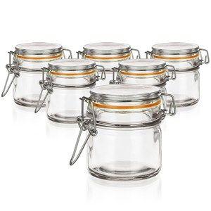 Banquet Lina hermetikusan zárható üveg tároló 100 ml, 8 db-os készlet