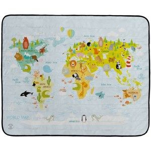 Butter Kings Kemping pléd World map, 145 x 180 cm