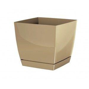 Coubi Square virágtartó tálcával, kávészínű, 13,5 cm, 13,5 cm