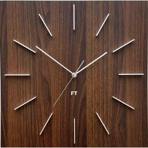 Future Time FT1010WE Square dark natural brown Design falióra, 40 cm