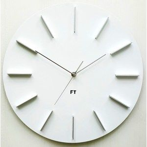Future Time FT2010WH Round white Design falióra, átmérő 40 cm
