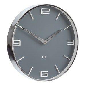 Future Time FT3010GY Flat Grey Dizájner falióra, átmérő: 30 cm