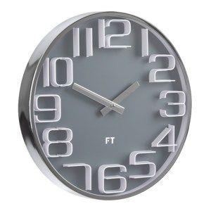 Future Time FT7010GY Numbers Dizájner falióra, átmérő: 30 cm