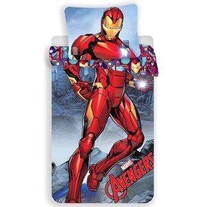 Iron Man gyermek pamut ágynemű, 140 x 200 cm, 70 x 90 cm