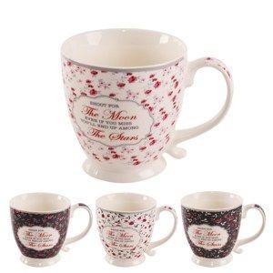 Orion Romantic porcelán bögre szett, 450 ml, 4 db